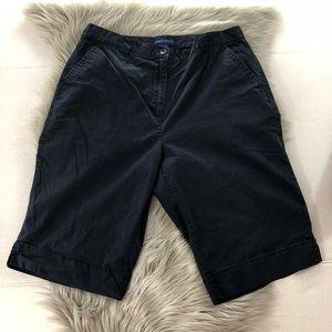Karen Scott navy blue Bermuda shorts size 12